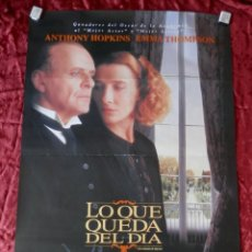 Cine: POSTER CARTEL ORIGINAL PELICULA: LO QUE QUEDA DEL DIA ANTHONY HOPKINS. Lote 149338453