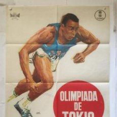 Cine: OLIMPIADA DE TOKIO 1964 - POSTER CARTEL ORIGINAL - JANO FLORALVA OLYMPIC GAMES JUEGOS OLIMPICOS. Lote 149366722