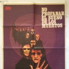 Cine: NO PROFANAR EL SILENCIO DE LOS MUERTOS POSTER CARTEL ORIGINAL JORGE GRAU CRISTINA GALBO RAY LOVELOCK. Lote 149367842