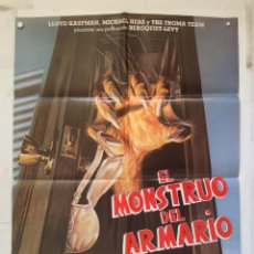 Cine: EL MONSTRUO DEL ARMARIO - POSTER CARTEL ORIGINAL - TROMA ENTERTAINMENT MONSTER IN THE CLOSET . Lote 149373682