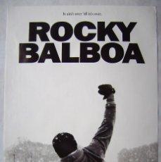 Cine: ROCKY BALBOA, CON SYLVESTER STALLONE. POSTER EN INGLÉS 61 X 91 CMS. 2006.. Lote 171712462