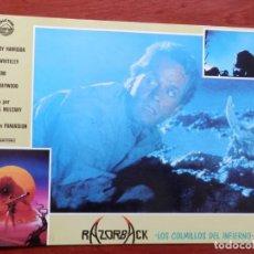 Cine: 5 LOBBY CARD RAZORBACK LOS COLMILLOS DEL INFIERNOVRUSSELL MULCAHY - VER TODOS EN LA FICHA DE VENTA-. Lote 149401394