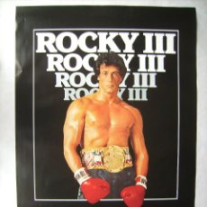 Cine: ROCKY III , CON SYLVESTER STALLONE. POSTER EN INGLÉS 68 X 99 CMS... Lote 190389812