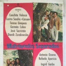 Cine: MATRIMONIOS SEPARADO - POSTER CARTEL ORIGINAL - CONCHITA VELASCO CASSEN TERESA GIMPERA. Lote 149450966