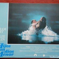 Cinéma: 2 LOBBY CARD HIJOS DE UN DIOS MENOR CON WILLIAN HURT Y MARLEE MATLIN. Lote 149491090