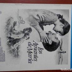 Cinema: GUIA CINE CUATRO HOJAS: LOS AMANTES DE MARIA NATASSJA KINSKI. Lote 149492516
