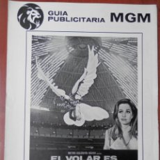 Cine: GUIA CINE TRES HOJAS: EL VOLAR ES PARA LOS PAJAROS BREWSTER MCCLOUD. Lote 149492692