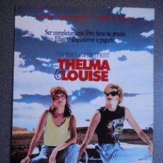 Cine: GUIA DE CINE 2 HOJAS: THELMA & LOUISE - RIDLEY SCOTT. Lote 149494456