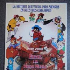 Cine: GUIA DE CINE 2 HOJAS: FIEVEL Y EL NUEVO MUNDO - STEVEN SPIELBERG. Lote 149494584