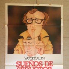 Cine: SUEÑOS DE SEDUCTOR WOODY ALLEN ORIGINAL 70X100. Lote 149693866