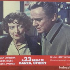 Cine: LOBBY CARD PELÍCULA A 23 PASOS DE BAKER STREET DE HENRY HATHAWAY CON VAN JOHNSON. Lote 149831048