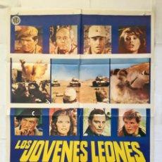 Cine: LOS JOVENES LEONES - POSTER CARTEL ORIGINAL - UMBERTO LENZI HELMUT BERGER SAMANTHA EGGAR G GEMMA. Lote 149989658