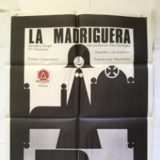 Cinéma: LA MADRIGUERA - POSTER CARTEL ORIGINAL - CARLOS SAURA GERALDINE CHAPLIN PER OSCARSSON. Lote 149990170