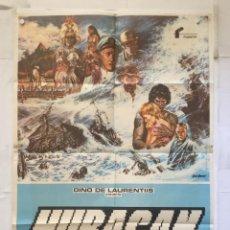 Cine: HURACAN HURRICANE - POSTER CARTEL ORIGINAL - MIA FARROW MAX VON SYDOW DAN BARRY. Lote 150073526