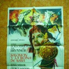 Cine: CARTEL DE CINE SALOMON Y LA REINA DE SABA DEL AÑO 1975 GINA LOLLOBRIGIDA Y YUL BRYNNER. Lote 150101626
