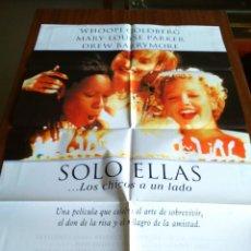 Cine: POSTER -- SOLO ELLAS -- POSTER GRANDE + 12 FOTOGRAMAS -- ORIGINALES DE CINE -- . Lote 150153534