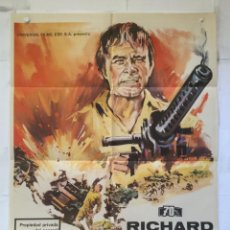 Cine: COMANDO DEL DESIERTO - POSTER CARTEL ORIGINAL - RICHARD BURTON HENRY HATHAWAY 2ª GUERRA MUNDIAL. Lote 150230798