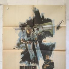 Cine: DOMINGO NEGRO - POSTER CARTEL ORIGINAL - BLACK SUNDAY JOHN FRANKENHEIMER ROBERT SHAW BRUCE DERN. Lote 150780770