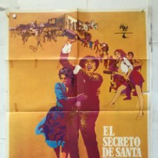 Cine: EL SECRETO DE SANTA VITTORIA - POSTER CARTEL ORIGINAL - ANTHONY QUINN ANNA MAGNANI 2ª GUERRA MUNDIAL. Lote 150799526