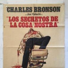 Cine: LOS SECRETOS DE LA COSA NOSTRA - POSTER CARTEL ORIGINAL - CHARLES BRONSON LINO VENTURA TERENCE YOUNG. Lote 150800966