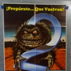 Cine: CRITTERS 2. TERRENCE MANN, DON KEITH OPPER - POSTER ORIGINAL ESTRENO. Lote 150827318