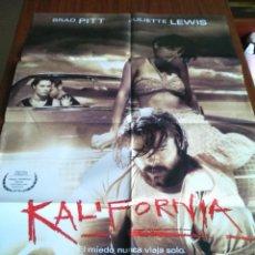 Cine: POSTER -- KALIFORNIA -- POSTER GRANDE + 12 FOTOCROMOS -- ORIGINALES DE CINE --. Lote 150935978