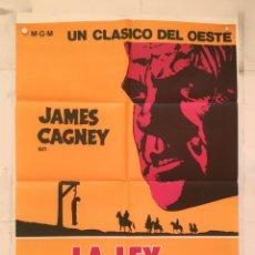 Cine: LA LEY DE LA HORCA - POSTER CARTEL ORIGINAL - JAMES CAGNEY IRENE PAPAS TRIBUTE TO A BAD MAN R WISE. Lote 150940854