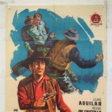 Cine: LA MASCARA DE LA MUERTE - POSTER CARTEL ORIGINAL - LUIS AGUILAR ROSA DE CASTILLA JANO. Lote 150941542