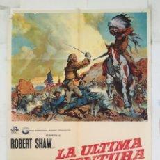 Cine: LA ULTIMA AVENTURA - POSTER CARTEL ORIGINAL - MARY URE ROBERT SHAW R RYAN ROBERT SIODMAK. Lote 150942506
