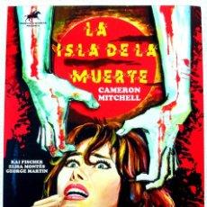 Cine: LA ISLA DE LA MUERTE CARTEL ORIGINAL EN LIENZO INMEJORABLE CALIDAD MEDIDAS 57X40 TERROR DE CULTO. Lote 151317390