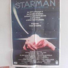 Cine: STARMAN, EL HOMBRE DE LA ESTRELLAS Y 6 FOTOCROMOS DE LA MISMA PELICULA. Lote 151418162