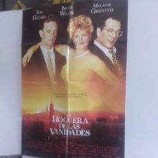 Cine: LA HOGUERA DE LAS VANIDADES Y 2 FOTOGRAMAS DE LA MISMA PELICULA. Lote 151425470