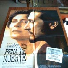 Cine: POSTER -- PENA DE MUERTE -- POSTER GRANDE + 10 FOTOGRAMAS -- ORIGINALES DE CINE -- . Lote 151507034