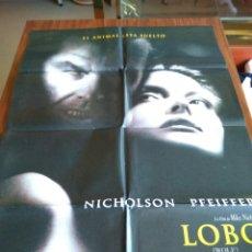 Cine: POSTER -- LOBO ( WOLF ) -- POSTER GRANDE + 4 MEDIANOS + 4 FOTOGRAMAS -- ORIGINALES DE CINE -- . Lote 151540846