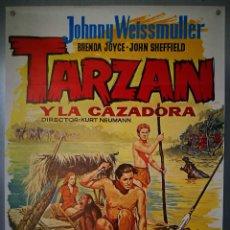 Cine: TARZAN Y LA CAZADORA. 70 X 100. Lote 151574338