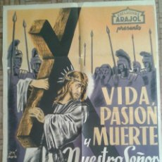 Cine: VIDA, PASIÓN Y MUERTE DE NUESTRO SEÑOR JESUCRISTO. LITOGRAFÍA. Lote 151720658