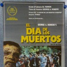Cine: EL DÍA DE LOS MUERTOS. LORI CARDILLE, TERRY ALEXANDER, JOSEPH PILATO. CARTEL ORIGINAL. Lote 151811962