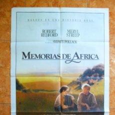 Cine: CARTEL DE CINE PELICULA MEMORIAS DE AFRICA ORIGINAL DEL AÑO 1986 MERYL STREEP ROBERT REDFORD. Lote 151814370