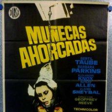 Cine: MUÑECAS AHORCADAS. SVEN-BERTIL TAUBE, BARBARA PARKINS, ALEXANDER KNOX. AÑO 1972. CARTEL ORIGINAL. Lote 151817598