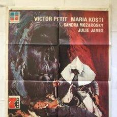 Cine: LA NOCHE DE LAS GAVIOTAS - POSTER CARTEL ORIGINAL - MARIA KOSTI AMANDO DE OSSORIO PROFILMES. Lote 151851610