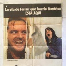 Cine: EL RESPLANDOR - POSTER CARTEL ORIGINAL - THE SHINING STANLEY KUBRICK JACK NICHOLSON. Lote 151852930
