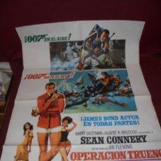 Cine: MAGNIFICO CARTEL DE CINE ORIGINAL DE EPOCA,007 OPERACION TRUENO. Lote 151913798