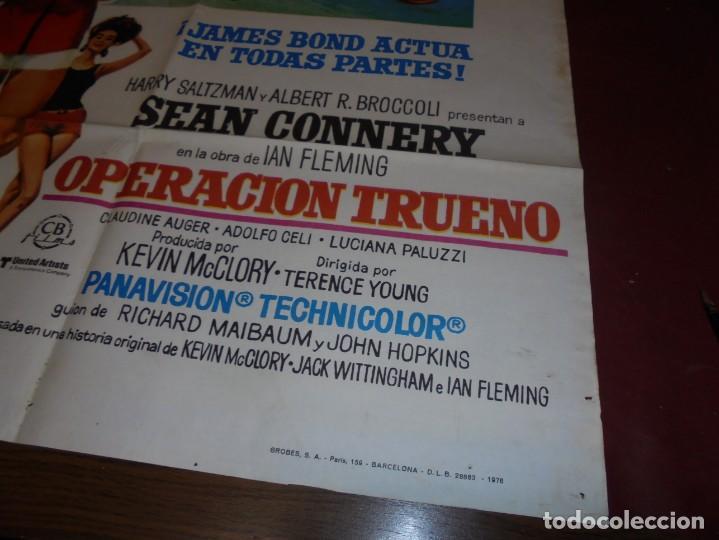 Cinema: magnifico cartel de cine original de epoca,007 operacion trueno - Foto 3 - 151913798