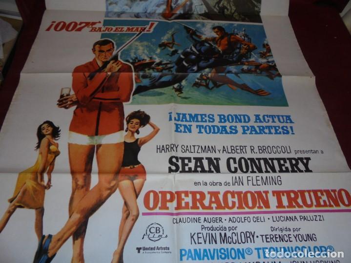 Cinema: magnifico cartel de cine original de epoca,007 operacion trueno - Foto 4 - 151913798
