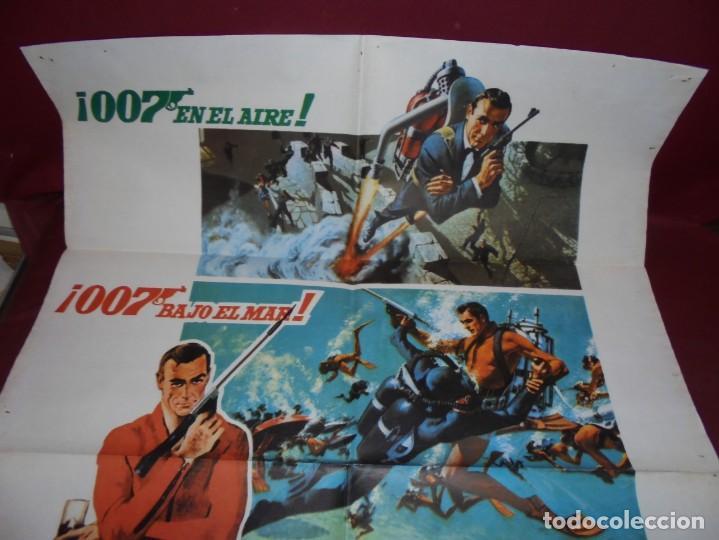 Cinema: magnifico cartel de cine original de epoca,007 operacion trueno - Foto 5 - 151913798