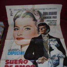 Cine: MAGNIFICO CARTEL DE CINE ORIGINAL DE EPOCA,SUEÑO DE AMOR,SALIDA 1 EURO. Lote 151914046