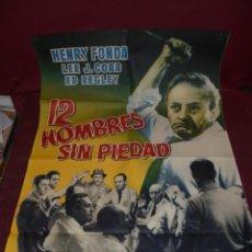 Cine: MAGNIFICO CARTEL DE CINE ORIGINAL DE EPOCA,12 HOMBRES SIN PIEDAD,CON HENRY FONDA. Lote 151914238