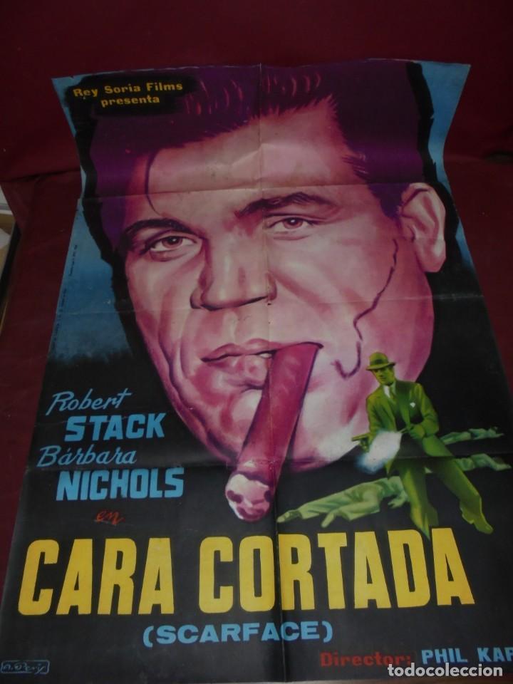 MAGNIFICO CARTEL DE CINE ORIGINAL DE EPOCA,CARA CORTADA,SALIDA 1 EURO (Cinema - Film Posters - Action)