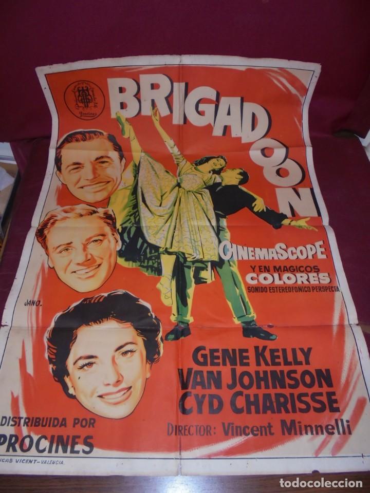 MAGNIFICO CARTEL DE CINE ORIGINAL DE EPOCA,BRIGADOON,SALIDA 1 EURO (Kino - Poster und Plakate - Komödie)