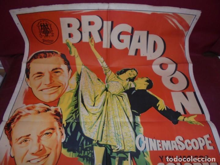 Kino: magnifico cartel de cine original de epoca,brigadoon,salida 1 euro - Foto 4 - 151916834